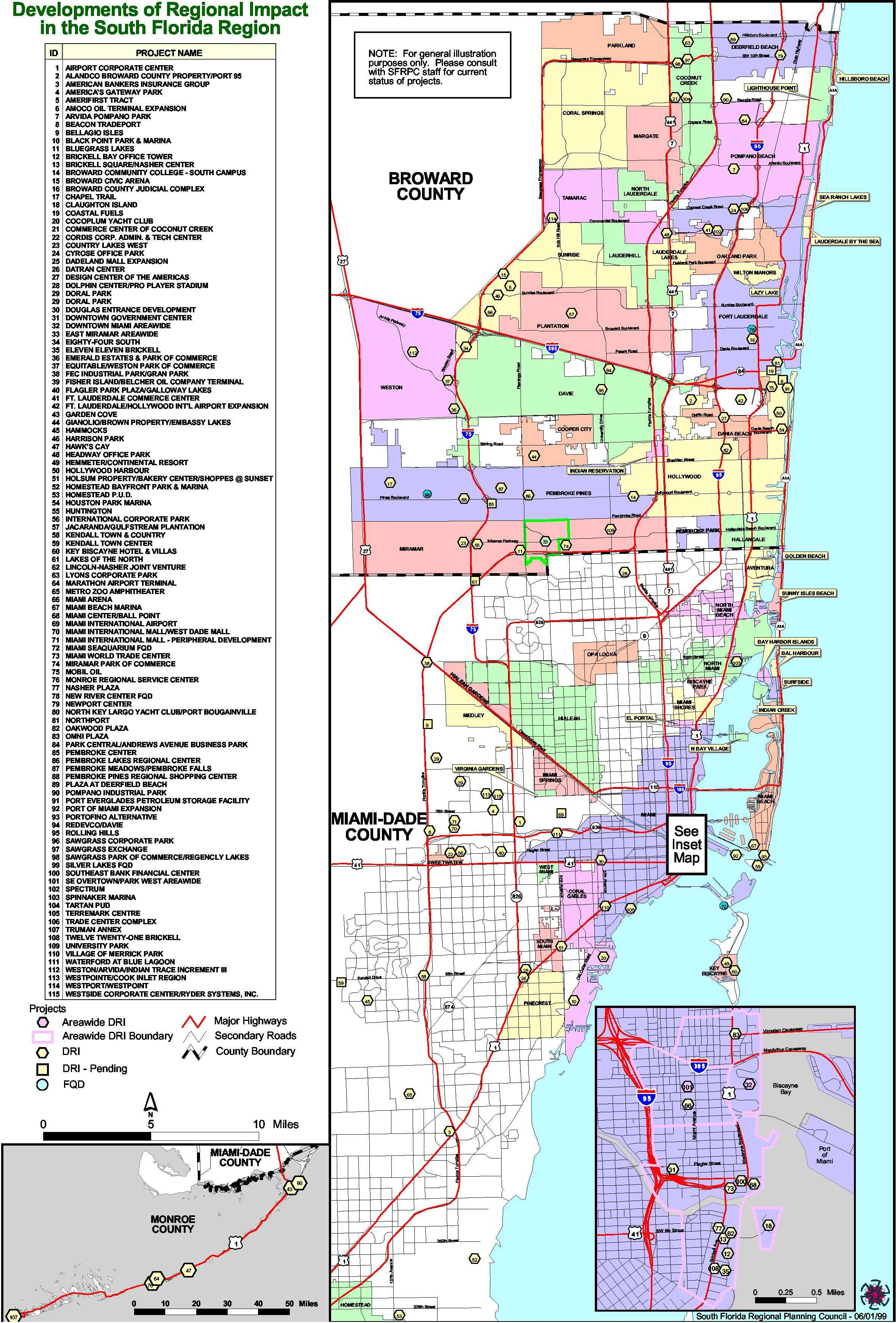 north broward florida map